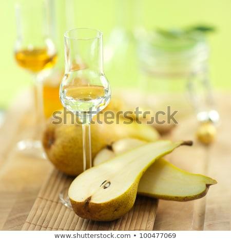 frutta · grappa · pera · occhiali · bottiglia - foto d'archivio © stevanovicigor