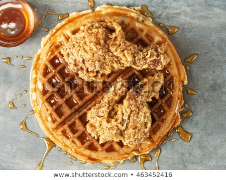 chicken and waffles Stock photo © tdoes