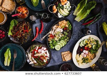 alma · festa · salada · legumes · isolado · branco - foto stock © neiromobile