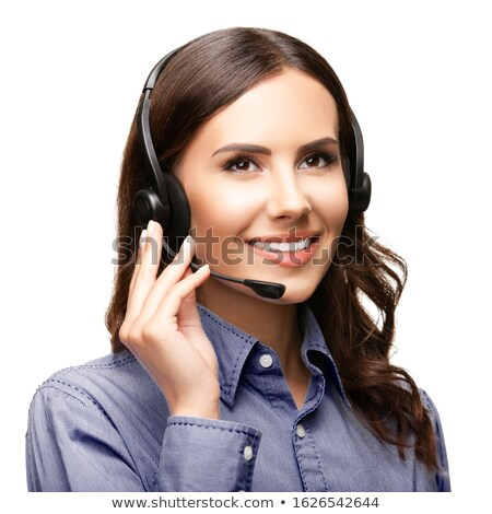 Smiling woman answering the phone against a white background Stock photo © wavebreak_media