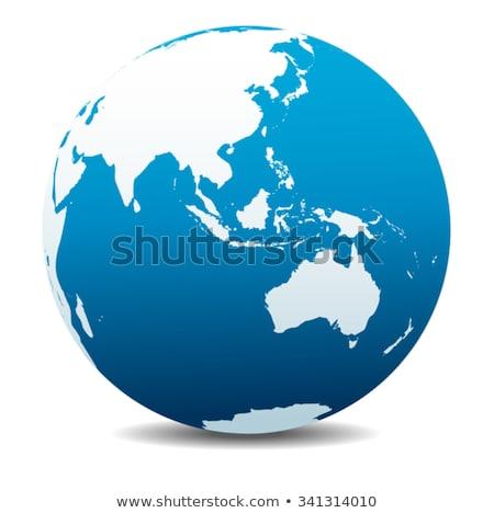 Ásia Austrália global mundo vetor mapa Foto stock © fenton