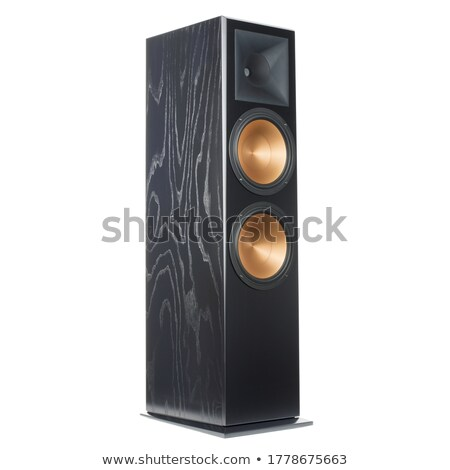 hifi player with loudspeakers isolated on white Stock photo © shutswis