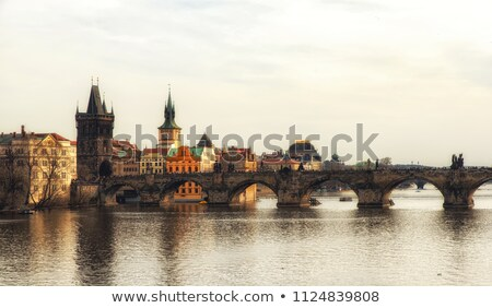 Prague bridges aerial view 04 Stock photo © LianeM