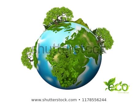 Planeten Erde Baum Gras Blume Anlage Stock foto © WaD