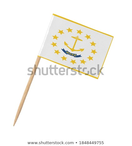 miniature flag of rhode island isolated stock photo © bosphorus