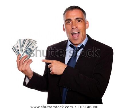 честолюбивый Hispanic исполнительного наличных деньги Сток-фото © pablocalvog