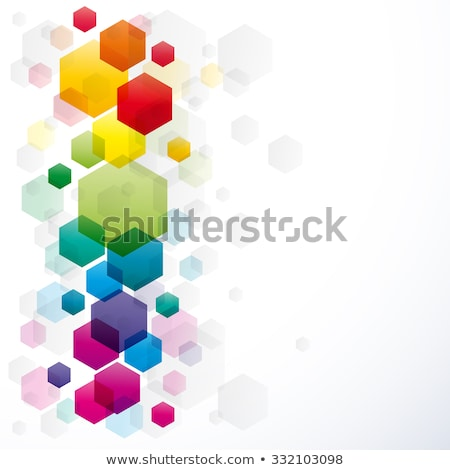 soyut · renkli · altıgen · dizayn - stok fotoğraf © tuulijumala
