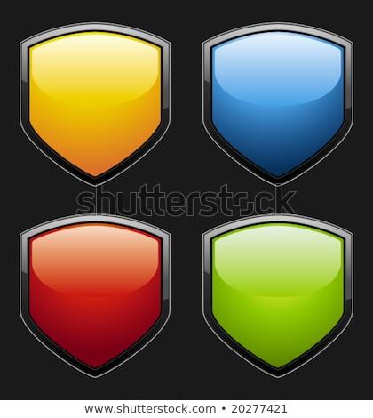 Zielone odznakę przycisk biały graficzne Zdjęcia stock © Balefire9