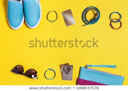 сумку женщину лет одежды силуэта Сток-фото © Wikki