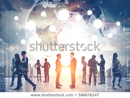 Internazionali rete mondo cooperazione mondo bandiere Foto d'archivio © Lightsource