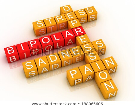 3d concept bipolar disorder background Stock photo © dacasdo