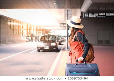 Stock photo: Taxis waiting at the airport