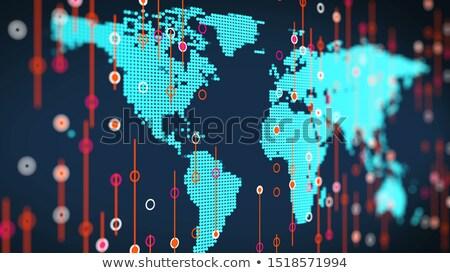 Rood · wereldkaart · geïsoleerd · zwarte · wereldbol - stockfoto © lightsource
