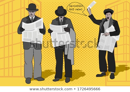 Newspaper seller Stock photo © carbouval