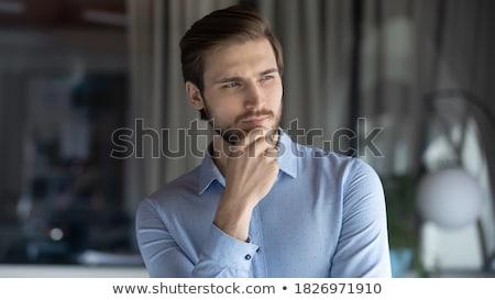 bello · imprenditore · straccio · grigio · faccia - foto d'archivio © luminastock