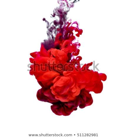 rosso · vernice · spot · studio · fotografia · fresche - foto d'archivio © zerbor