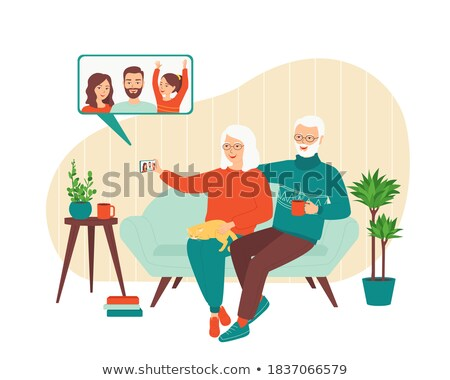 Elderly Talk Stock photo © Lightsource