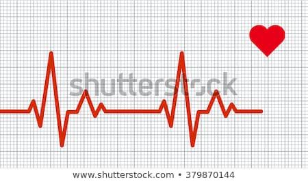 Ekg grafikon izzó kék sötét hálózat Stock fotó © neirfy