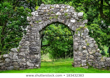 beautiful arch in an old stone building stock photo © jrstock
