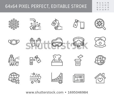 Ikon zsebkendő élet illusztráció Stock fotó © zzve