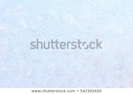 Ice patterns and sun on winter glass Stock photo © Anettphoto