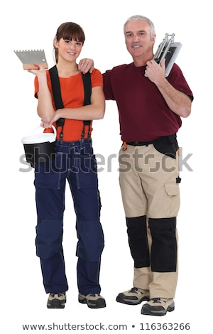 A tiler and his trainee. Stock photo © photography33