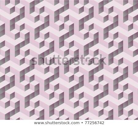 seamless tilable isometric cube pattern stock photo © krisdog