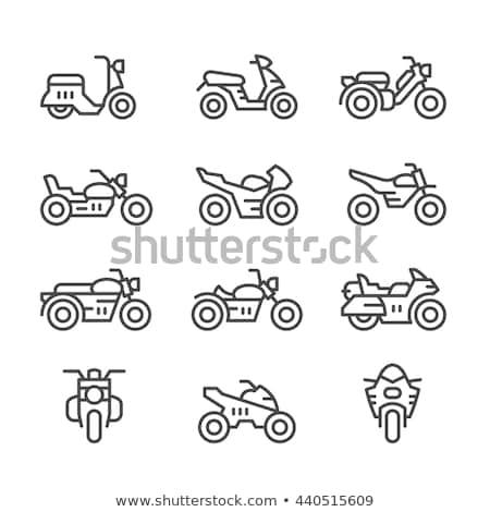 オートバイ バイク アイコン デザイン にログイン 旅行 ストックフォト © djdarkflower