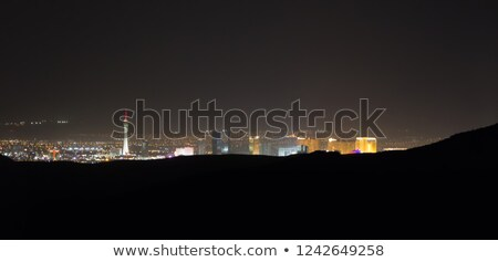 Panoramic Southwest Landscape Red Rock Hills Downtown Las Vegas  stock photo © cboswell