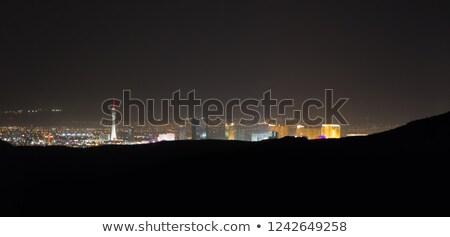 ストックフォト: Panoramic Southwest Landscape Red Rock Hills Downtown Las Vegas