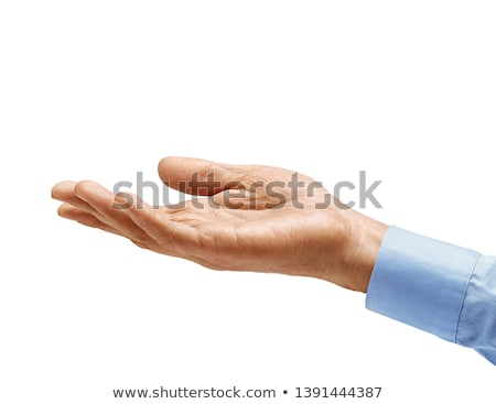 Open palm hand gesture of male hand Stock photo © bloodua