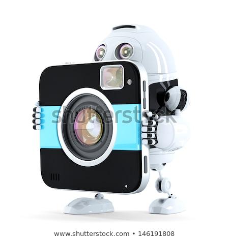 робота ходьбе цифровая камера изолированный белый фильма Сток-фото © Kirill_M