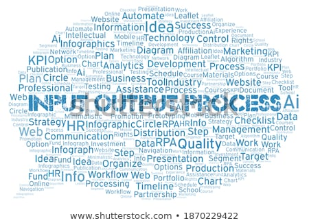 Output. Wordcloud Concept. Stock photo © tashatuvango