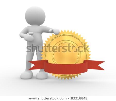 Man marionet gouden boeg Rood Stockfoto © compuinfoto