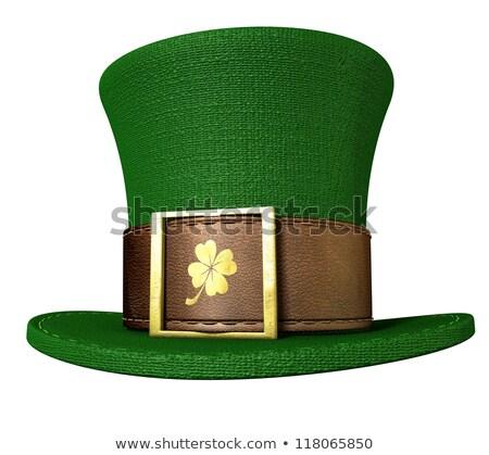 irlandés · verde · superior · sombrero · afortunado - foto stock © lightsource