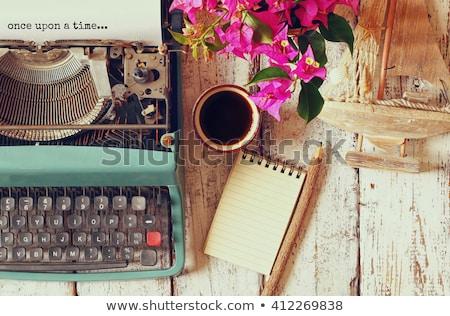 Vintage piśmie biurko odizolowany biały drewna Zdjęcia stock © Bumerizz