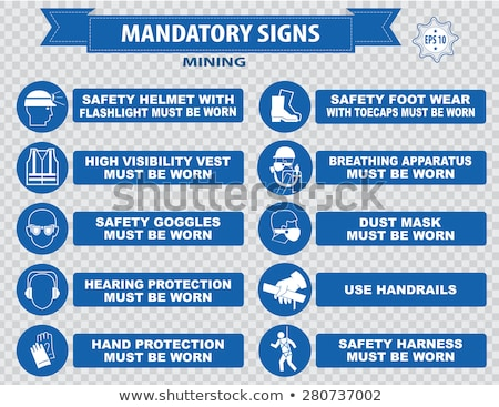 Mandatory sign use safety vest Stock photo © Ustofre9