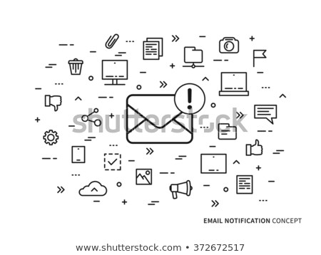 tablet message mailing concept stock photo © burakowski