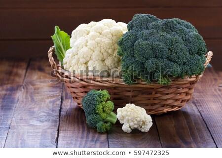 Karfiol brokkoli étel vacsora zöldség diéta Stock fotó © M-studio