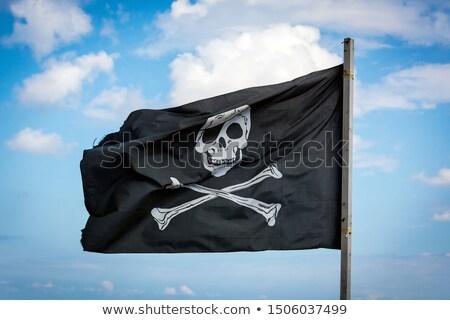 pirata · bandeira · céu · lei · barco · navio - foto stock © richardjary