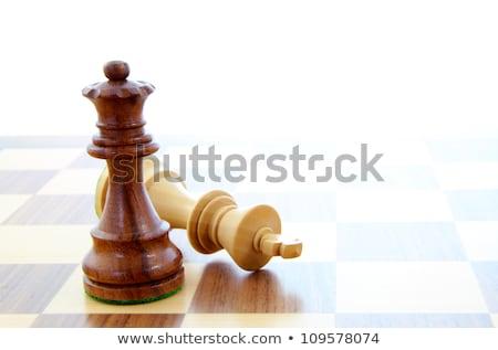 Dois peças de xadrez sozinho tabuleiro de xadrez festa Foto stock © vlad_star