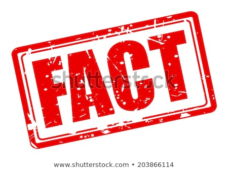 Facts stamp Stock photo © burakowski