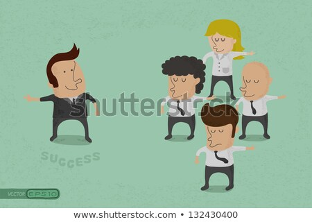 business man opposition eps10 vector format stock photo © ratch0013