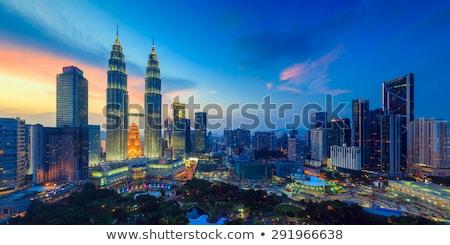 Paisaje horizonte Malasia jardines negocios Foto stock © weltreisendertj