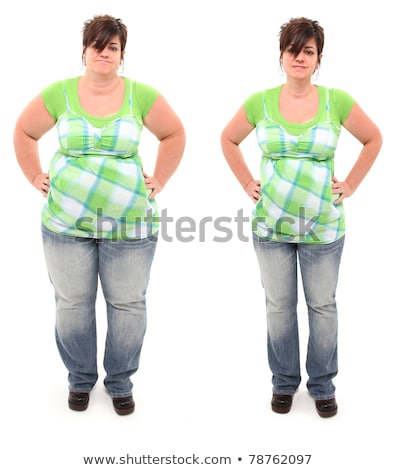 plump to skinny. Befor and after stock photo © sharpner
