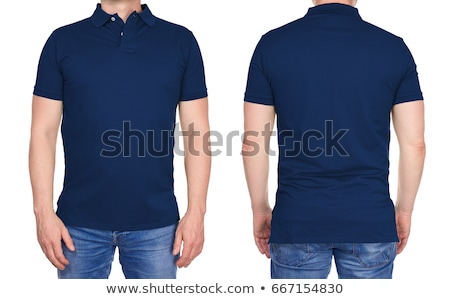 fashion models in blue jeans and casual polo shirts Stock photo © feedough