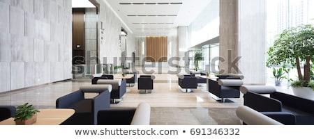 üveg · fal · felirat · bank · épület · iroda - stock fotó © pab_map