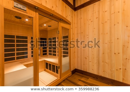 Infrared sauna cabin (infra)red light stock photo © ChilliProductions