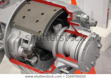 auto · cilinder · rem · trommel · witte · metaal - stockfoto © homydesign
