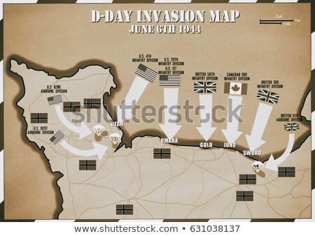 map of landing beaches in Normandy Stock photo © philipimage